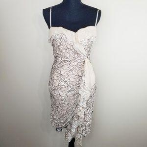 BCBG Maxazria Lace Spaghetti Strap Dress